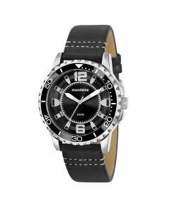kit de relógio analógico mondaine masculino + carteira - 76721g0mvnh1k preto
