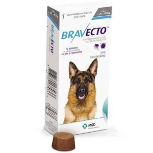 Bravecto Anti Pulgas E Carrapatos Para Cães De 20 A 40kg - R$14