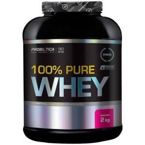 100 % Pure Whey Morango 2Kg - Probiótica - R$87