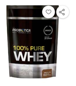 100% Pure Whey Refil 825g Sabores - Probiótica por R$ 47