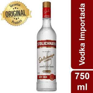 [CC AMERICANAS R$48,50 + 15% AME] Vodka Russa Premium Letonia Garrafa 750ml - Stolichnaya R$48,50