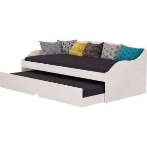 Sofá-cama Laís Ll - Cimol - Branco R$223