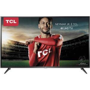 """Smart Tv Led 50"""" Tcl P65us Ultra Hd por R$ 1610"""