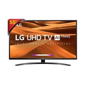 "Smart TV LED 55"" UHD 4K LG 55UM7470 - R$2324"