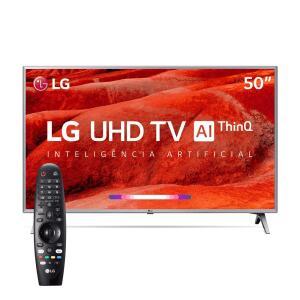 "Smart TV 50"" LG ThinQ AI 4K 50UM7500 + Controle Smart Magic   R$1.994"