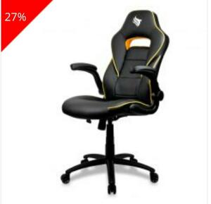 [ A VISTA ] Cadeira Pichau Gaming Stargard Amarelo