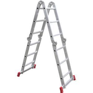 Escada Articulada Multifuncional 12 Degraus 13 Posições Alumínio - Botafogo Lar e Lazer