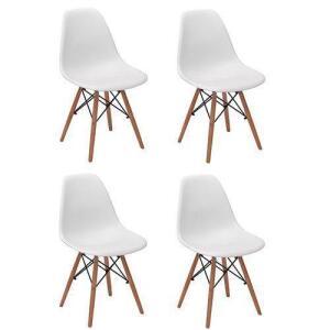 Kit 4 Cadeira Charles Eiffel Eames Fortt Branca - Ft-18090 R$ 289