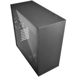 Gabinete Gamer Sharkoon Pure Steel sem Fonte, Mid Tower, USB 3.0, 2 Fans, Preto com Lateral em Vidro - PURE STEEL BLACK ATX