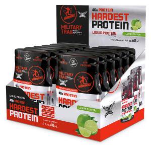 Hardest Protein  Líquida Isolada  - Military Trail 60ml -12 Un. | R$20