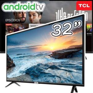 "Smart TV LED 32"" Android TCL 32s6500 HD com Conversor Digital Wi-Fi Bluetooth"