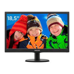 "Monitor Philips 18,5"" LED HD VGA Widescreen 193V5LSB2 por R$ 233"
