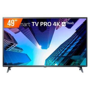 """Tv 4K Smart Pro Led 49"""" Ultra Hd, 4k Lg, 3 Hdmi, 2 Usb, Wi-fi - R$1751"""