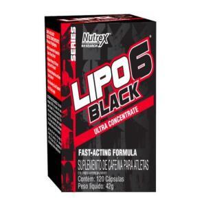 Termogênico Lipo 6 Black Ultra Contrentrado 120 Capsulas - Nutrex R$85