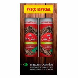 Kit Desodorante Spray Old Spice Lenha 2x150ml