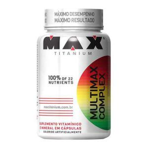 [AME 19] Multivitamínico Complex 90 Cápsulas - Max Titanium - R$ 21