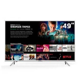 "Smart TV LED 49"" Semp 49K1US 4K | R$1.594"