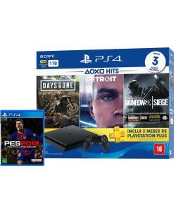 [Ame + Cartão Americanas] Console PlayStation 4 Slim 1TB Hits Bundle 5 + PES 2019 | R$1.600 ( Com AME R$1.536)