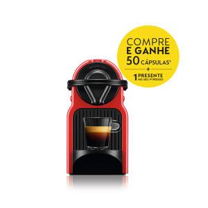 Máquina De Café Inissia Ruby Red Nespresso + 62 cápsulas - R$285