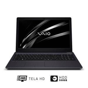"[R$ 1.442,04 - AME: R$ 288,41]Notebook Vaio® Fit 15S Pentium™ 4GB 500GB Windows 10 Home 15.6""- Chumbo"