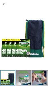Kit 8 Carga Gillette Mach3 + Porta Chuteira [APP]
