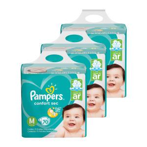 Kit de Fraldas Pampers Confort Sec Super