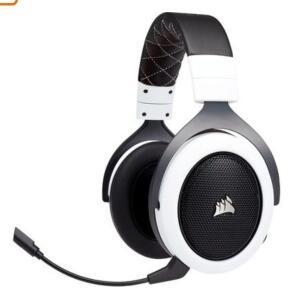 Headset Gamer Corsair HS70 Wireless Carbono, 7.1 Surround, Branco