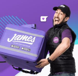 R$19 OFF para pedidos acima de R$30 no James Delivery