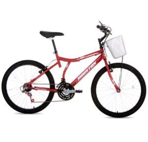 Bicicleta Aro 24 Houston Bristol Peak com 21 Marchas – Vermelho R$379