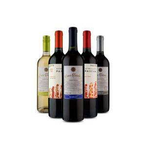 [AME R$ 86]Kit 5 Uvas Chilenas (5 Vinhos) R$ 90