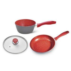 [AME] Flavorstone Vermelha Saute Petit 20cm + Sauce 20cm + Tampa 20cm Por 189,95