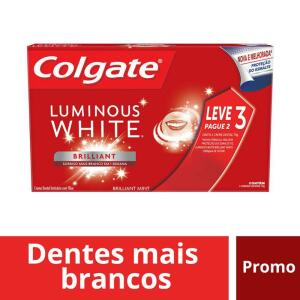 3x70g Creme dental Colgate luminous white