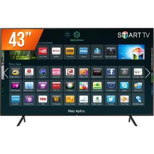 """Smart TV LED UHD 4K 43"""", Samsung, UN43NU7100GXZD - R$1800"""