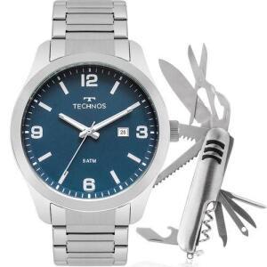 Kit Relógio Technos Masculino Classic com Canivete 2115MPK/1A | R$169