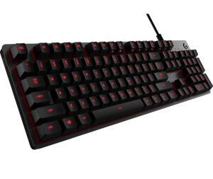 [AME R$288] Teclado Gamer G413 Mecânico Carbon com Iluminação Vermelha, USB Passthrough e Switch Exclusivo Romer - Logitech