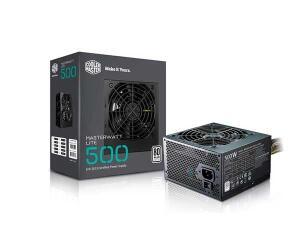 Fonte 500W Cooler Master MasterWatt Lite - PFC Ativo - Eficiência 80% - 80 PLUS® White - MPX-5001-ACAA