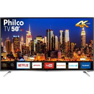 """[CC Shoptime/AME R$1338] Smart TV Philco 50"""" Led PTV50F60SN 4K R$ 1520"""