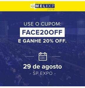 20% OFF no ingresso do Melixp- Mercado Livre