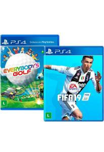 Combo Everybody's Golf + FIFA 19 - Mídia física PS4 [20% de AME]