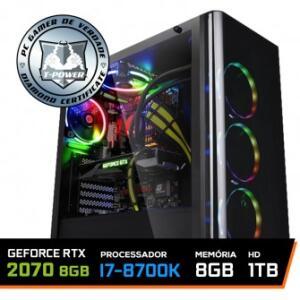 PC GAMER T-POWER EDITION INTEL I7 - R$6.089