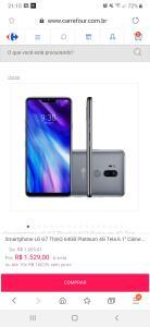 LG G7 thinq platinum