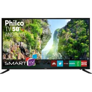 "Smart TV LED 50"" Philco PTV50D60SA FULL HD Conversor Digital Integrado 2 HDMI 2 USB Wi-Fi R$1.472"