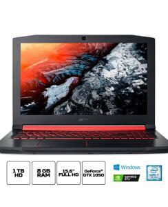 "Notebook Gamer Aspire Nitro AN515-51-77FH Intel Core i7 8GB (Geforce GTX 1050 com 4GB) 1TB Tela IPS 15,6"" W10 - Acer"