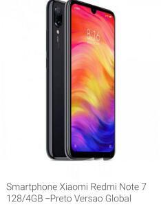 Xiaomi  Redmi Note 7  preto  e Azul 128 GB (VERSÃO GLOBAL)
