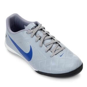 Chuteira Futsal Nike Beco 2 - Cinza e Branco | R$100