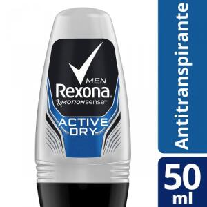 Desodorante Roll-On Rexona Men Active Dry, comprando 2 sai 4,08 cada | R$8