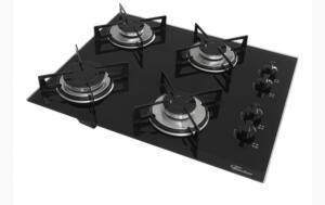 Fogão Cooktop Fischer 4 Bocas Acendimento Automático Bivolt | R$269