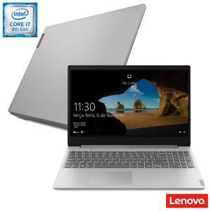 Notebook Lenovo, Intel® Core™ i7 8565U, 12GB, 1TB, Tela de 15,6'', NVIDIA GeForce MX110, IdeaPad S145 - R$2999