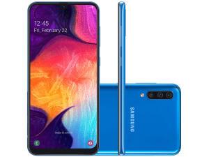 """Smartphone Samsung Galaxy A50  64GB Dual Chip  4GB RAM  tela 6,4"""" - R$1133"""