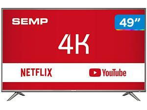 """Smart TV 4K LED 49"""" Semp SK6200 Wi-Fi HDR - R$1615"""